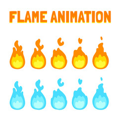 Flame animation for game