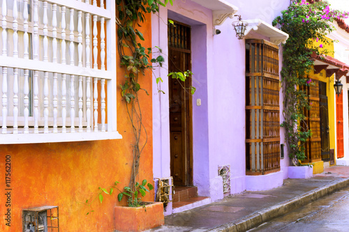 Fototapete Colorful Cartagena Buildings