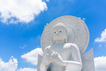 Big White Buddha image in Saraburi, Thailand.