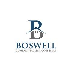 B Letter Real Estate Logo