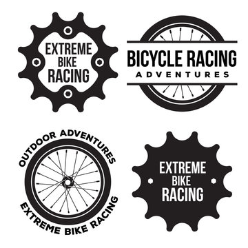 bicycle sport related logo template