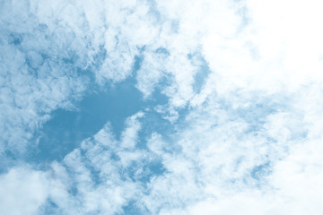 Blue sky and white clouds; beauty bright clear day