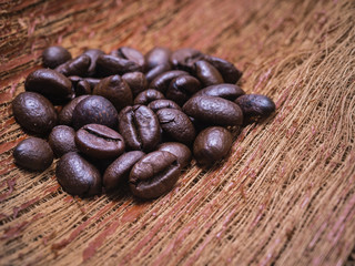Abstract roasted coffee beans