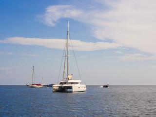 yacht and blue water Andaman sea