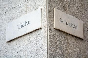 Schild 109 - Licht