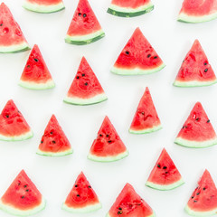 Slices watermelon on white background