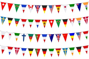 Banners. Garlands. Europe. International