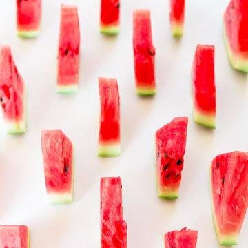Slices watermelon on white background
