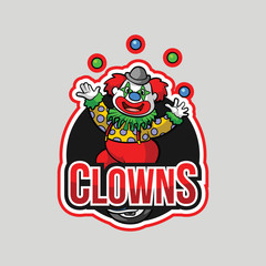 clowns illustration design full colour