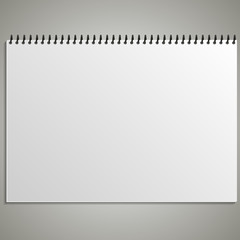 Calendar sheet of paper on a gray background