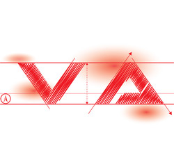 va redprint font