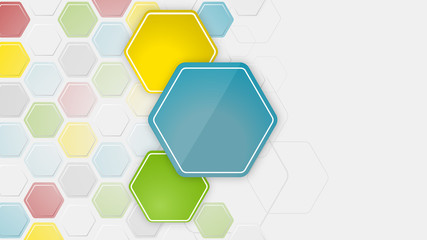 Abstract wallpaper or pc desktop vector easy editable background with hexagonal structure.