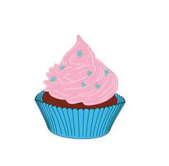 Pink cupcake. vector illustration