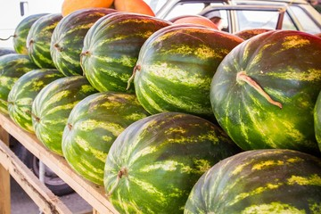 large ripe watermelons