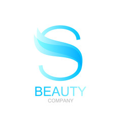Abstract letter S logo design template with beauty spa salons. yoga