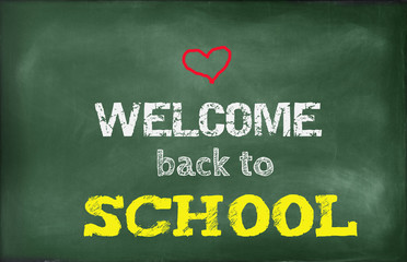 Welcome back to school, school sign,heart,