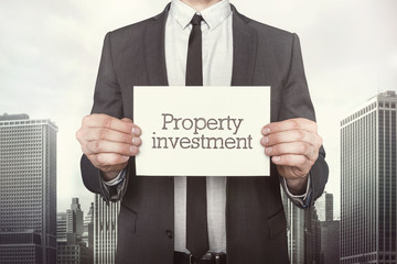 Property investment text on paper