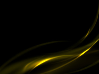 Abstract background with a gold line on a black background, vector illustration