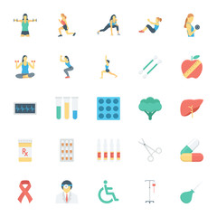 Medical and Health Colored Vector Icons 7