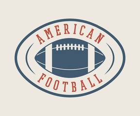 Vintage rugby and american football labels, emblems and logo. Graphic art. Vector illustration