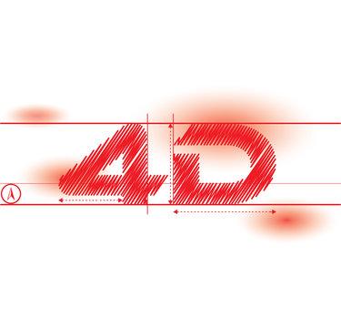 4d redprint font