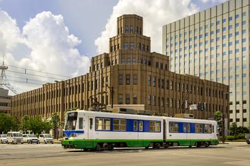 福井地方裁判所と路面電車・2016年
