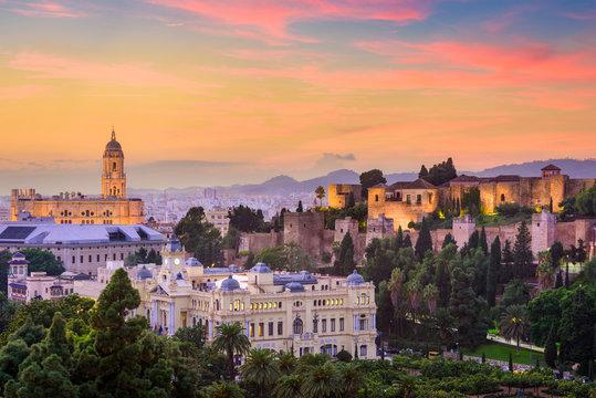 Malaga, Spain Old Town Skyline