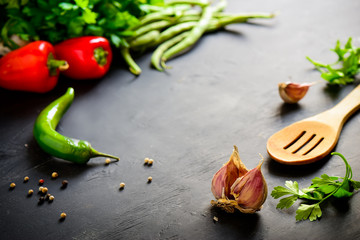 Dark culinary background