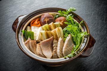 ねぎま鍋  Tuna pan Japanese food