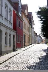 Straße in Waren an der Müritz