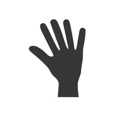 fingers human hand gesture icon. Isolated and flat illustration. Vector graphic