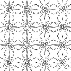 Geometric seamless pattern vector black and white stars