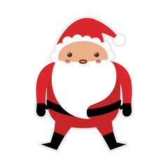 santa merry christmas cartoon icon. Isolated and flat illustration. Vector graphic