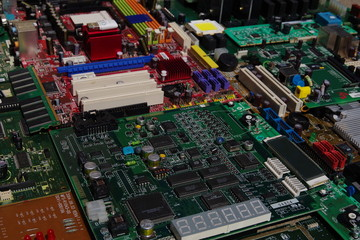 Electronic components, boards and modules for different devices.