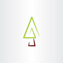 fir tree vector christmas icon design
