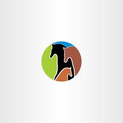 horse family logo vector