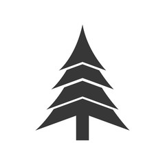 pine tree nature merry christmas icon. Isolated and flat illustration. Vector graphic