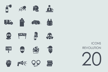 Set of revolution icons
