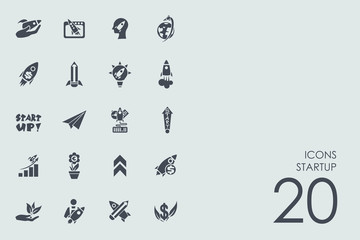 Set of startup icons