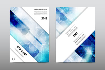 Brochure layout template flyer design vector, Magazine booklet cover abstract background