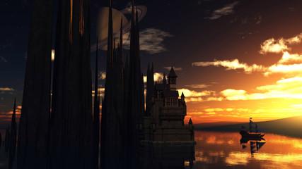 Old fantasy castle