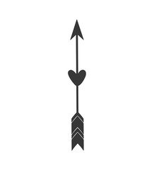 arrow feather vintage decoration icon. Isolated and flat illustration. Vector graphic