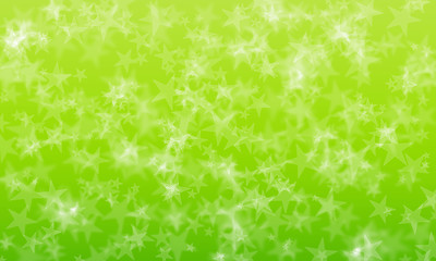 Stars bokeh abstract on green background