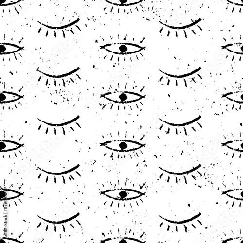 500_F_117608625_VGPboiUG5RyR8r8PjQ8m9fNvJnh856wR hand drawn ethnic pattern with eyes tribal ornamental background