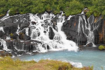 Hraunfossar, waterfall in Iceland