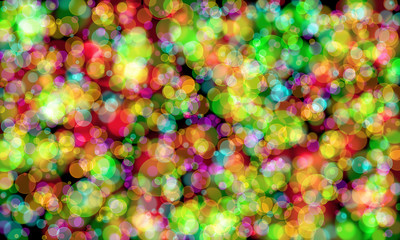 Bokeh gradient abstract colorful for Christmas on black backgrou