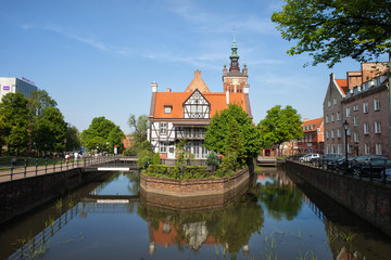 Miller House on Raduni Canal in Gdansk