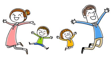 家族:笑顔でジャンプ