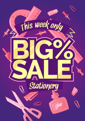 Big sale of stationery for school, office and handmade