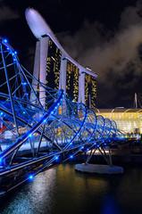 Foto op Plexiglas Singapore night view of Singapore downtown and marina bay